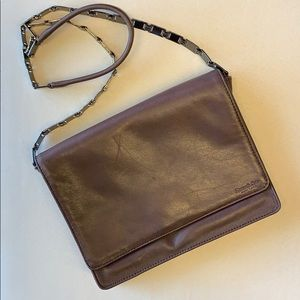 Kenneth Cole | Brown Leather Chain Business Purse